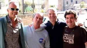 Los Nikis, reunidos para un homenaje en Trujillo el pasado noviembre. Joaquín Rodríguez es el primero por la izquierda.