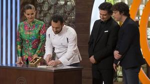 Imagen del concurso gastronómico de TVE-1 Masterchef.