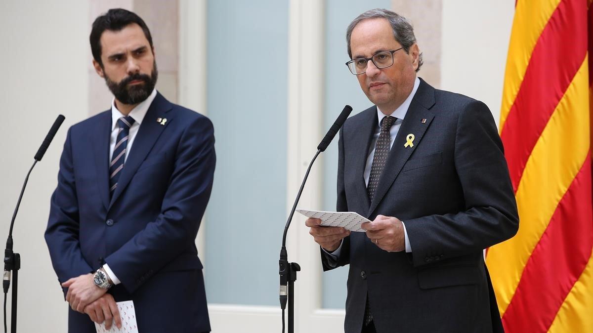 Torra amenaça la Junta Electoral amb «accions penals»