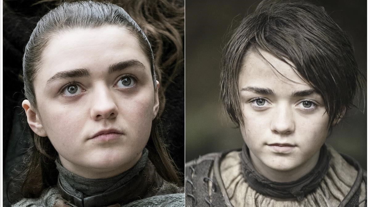 Maisie Williams como Arya Stark.
