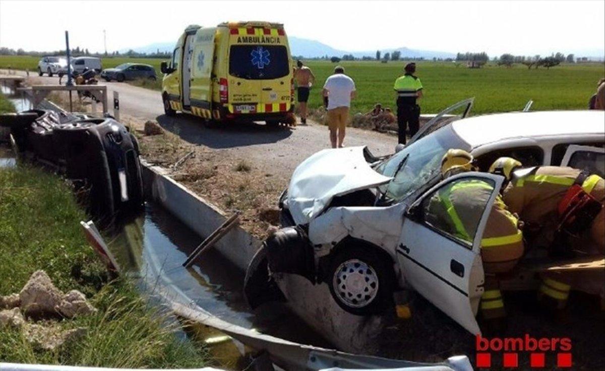 Accidente de tráfico registrado el pasado 24 de agosto en Deltebre.