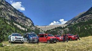 Vehículos de los servicios de salvamento que participaron en la búsqueda del excursionistafallecido en Aigüestortes.