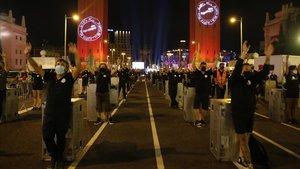 Movilización de Alerta Roja, movimiento de los trabajadores de mundo del espectáculo y los eventos en Barcelona, ayer, jueves 17 de septiembre.