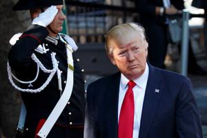 Donald Trump, en la cumbre del G-7 en Taormina, este sábado.