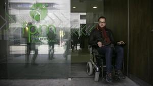Robert de Miguel, una de las 38 personas contratadas para hacer un diagnóstico sobre la accesibilidad de la ciudad.