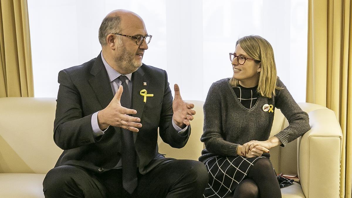 Eduard Pujol y Elsa Artadi