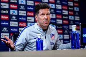 Diego Simeone en la rueda de prensa previa a la visita del Villarreal.