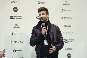El barcelonista Gerard Piqué en la presentación de la Copa Davis.