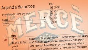 Cercador: programa d'actes de la Mercè i PDF, dia a dia