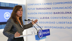 Alicia Sánchez Camacho, en una rueda de prensa.