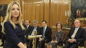 Ángeles Carmona, el dia de la seva presa de possessió com a vocal del CGPJ, el 2013.