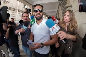 Antonio Manuel Guerrero, miembro de La Manada, ante el juzgado de guardia de Sevilla.
