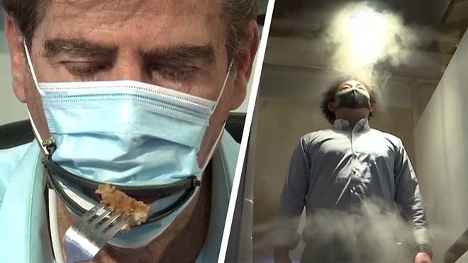 Bienvenido a la nueva realidad: mascarillas automáticas, burbujas de aislamiento y cabinas de desinfección