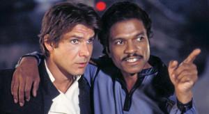 Billy Dee Williams y Harrison Ford.