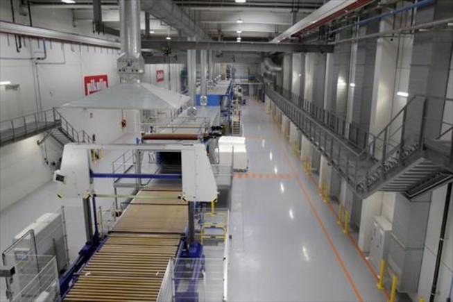 MILLORA EN LA PRODUCCIÓ. La nova fàbrica de Pikolin a Saragossa, que té gairebé 130.000 metres quadrats.