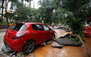 LLuvias causan inundaciones y daños en Brasil.