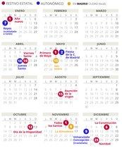 Calendario laboral de Madrid del 2019 (con todos los festivos)