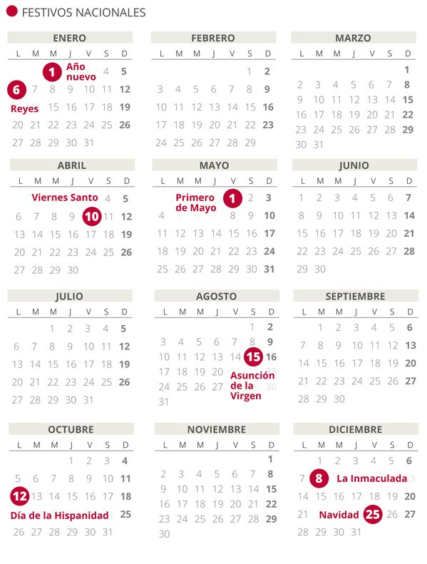 Resultado de imagen para fechas festivas 2020