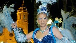 Una participante en el Carnaval de Sitges.
