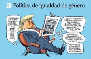 Chiste sobre Trump en 'Orgullo y Satisfacción', de Manel Fontdevila.