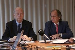 Joan Josep Brugera (izquierda), presidente, y Pere Viñolas, consejero delegado de Colonial.