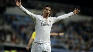 Cristiano Ronaldo celebra uno de sus cuatro goles ante el Malmoe.