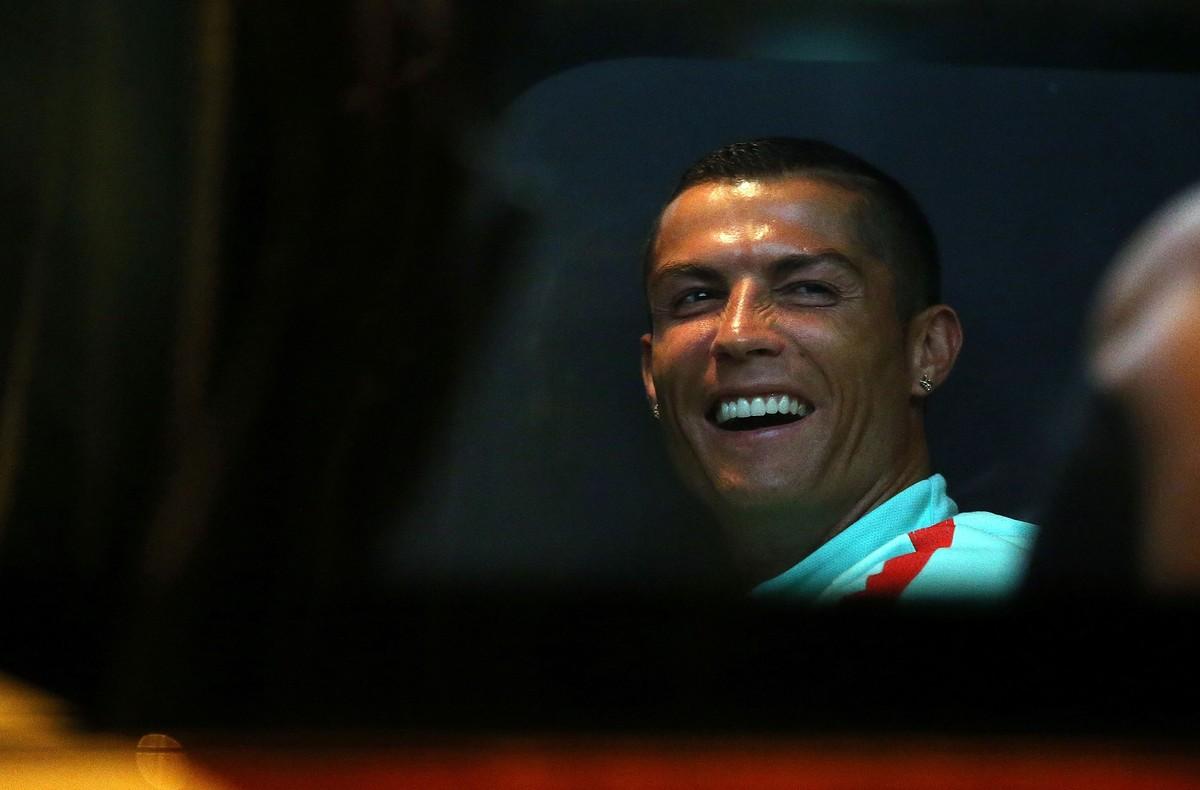 Cristiano Ronaldo, a la llegada a Rusia para disputar la Copa Confederaciones.