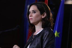 La candidata del PP a la Presidencia de la Comunidad de Madrid, Isabel Díaz Ayuso.