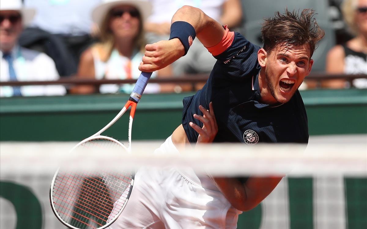 Dominic Thiem, en las semifinales de París