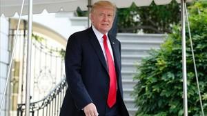 Donald Trump a las puertas de la Casa Blanca.