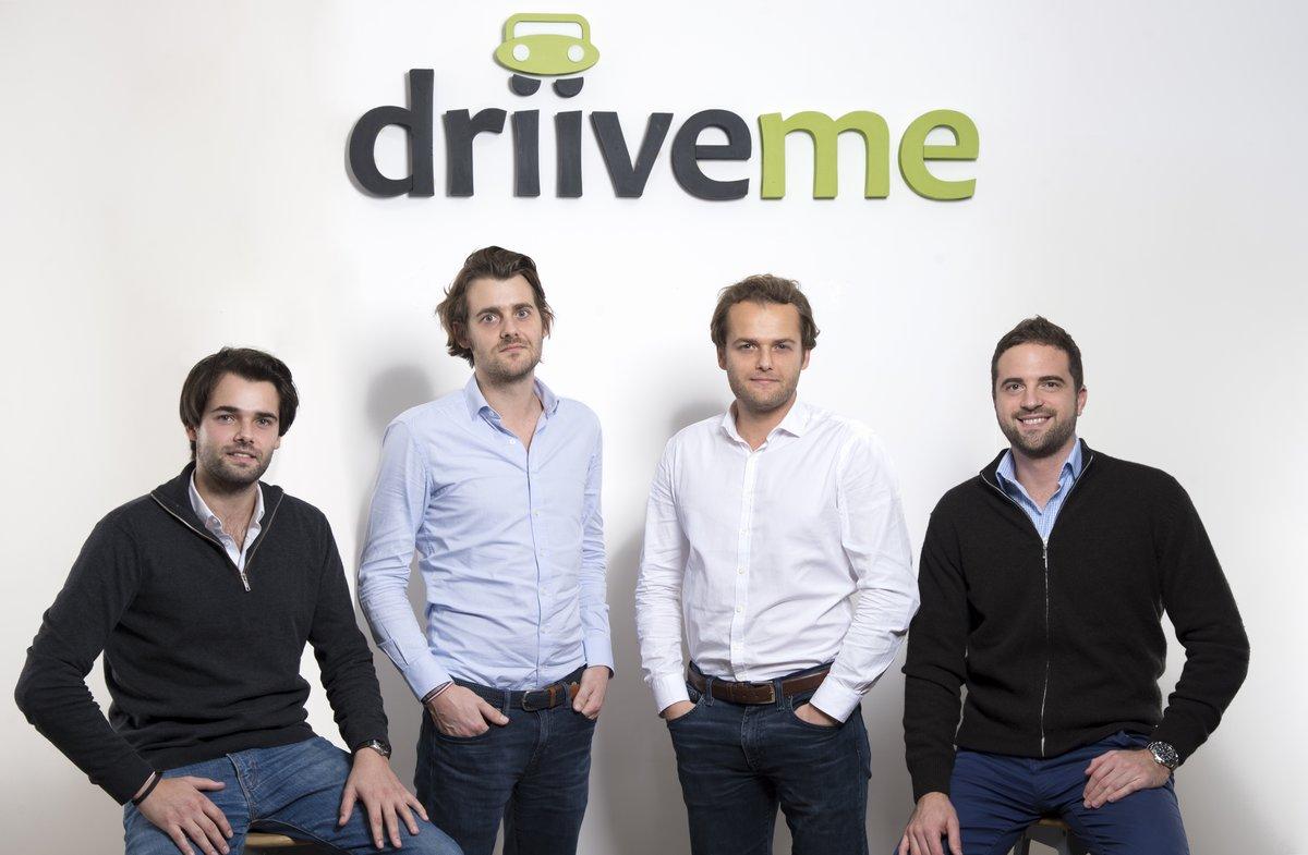 Los directivos de Driiveme (de izquierda a derecha): ConstantinLambert, director general de Iberia e Italia, Geoffroy y Alex Lambert, cofundadores, y Trevor Lambert, directivo de Reino Unido