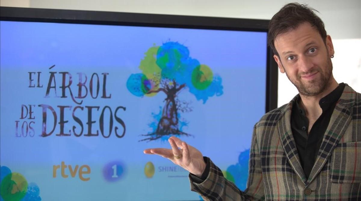 Edu Soto, en la presentación de El árbol de los deseos.