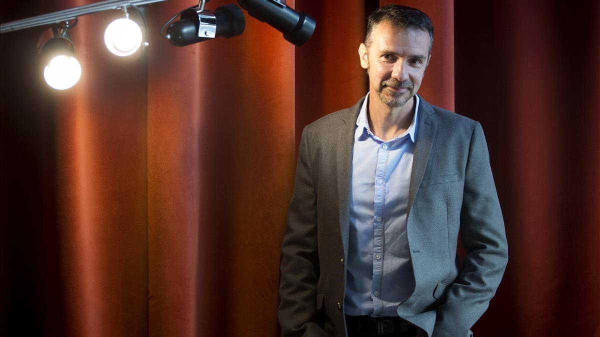 El escritor francés Franck Thilliez, en un hotel de Madrid, donde participó en Getafe Negro.