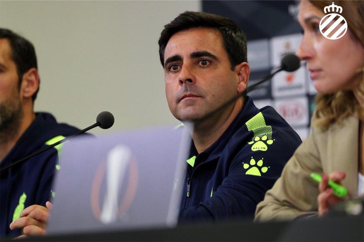 Gallego, en la rueda de prensa de este miércoles.