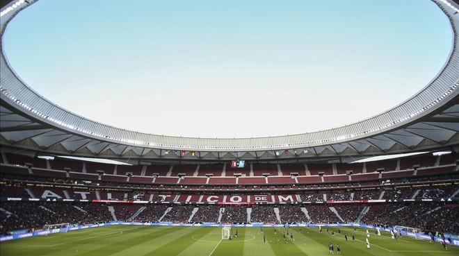 El estadio Wanda Metropolitano de Madrid, sede de la final de la Copa del Rey de este sábado.