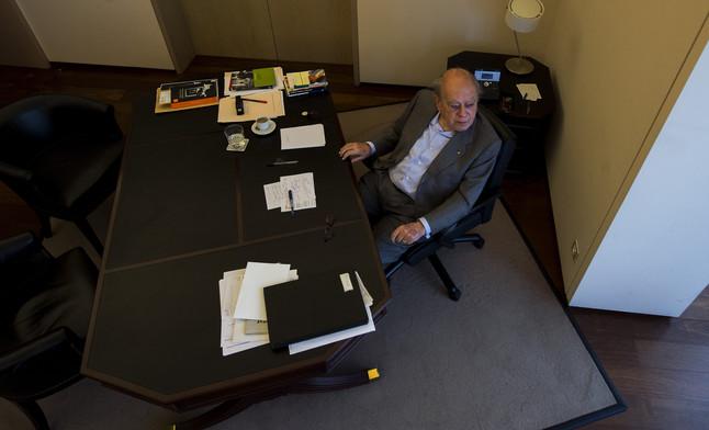 El expresident Pujol en su despacho a finales de 2013
