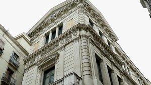 Fachada de El Borsí, edificio de estilo neoclásico de Barcelona.