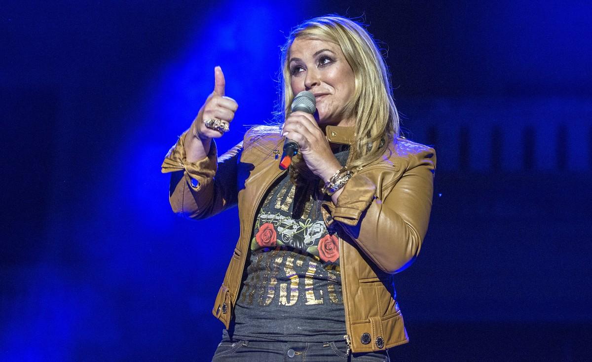 Anastacia, en un concierto en Barcelona.