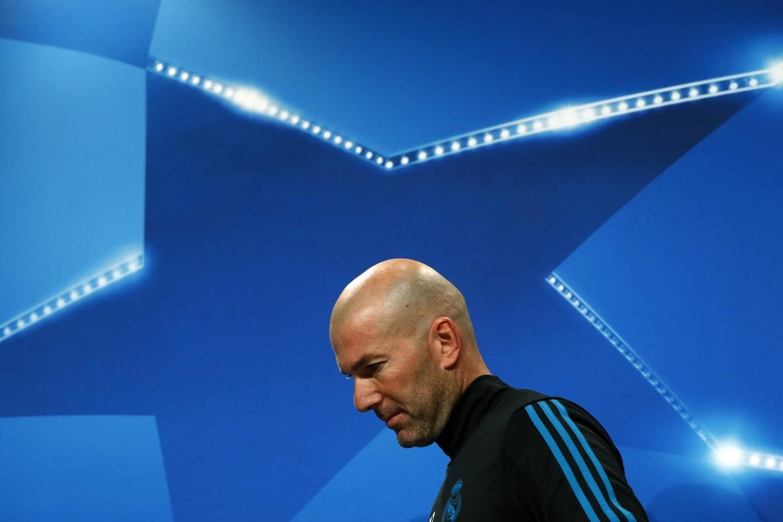 Zinedine Zidane, en víspera del Bayern-Madrid de la Champions 2017-2018.