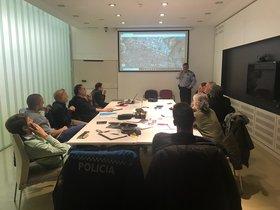 Técnicos de la Vuelta y el Ayuntamiento de Igualada, reunidos este martes.