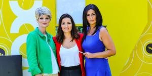 Olga Hueso, Silvia Abrily Mónica Pérez, tres de las actrices del programa de Neox Homo zapping.