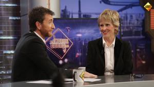 Mercedes Milá, en el programa de Antena 3 El hormiguero, con Pablo Motos.