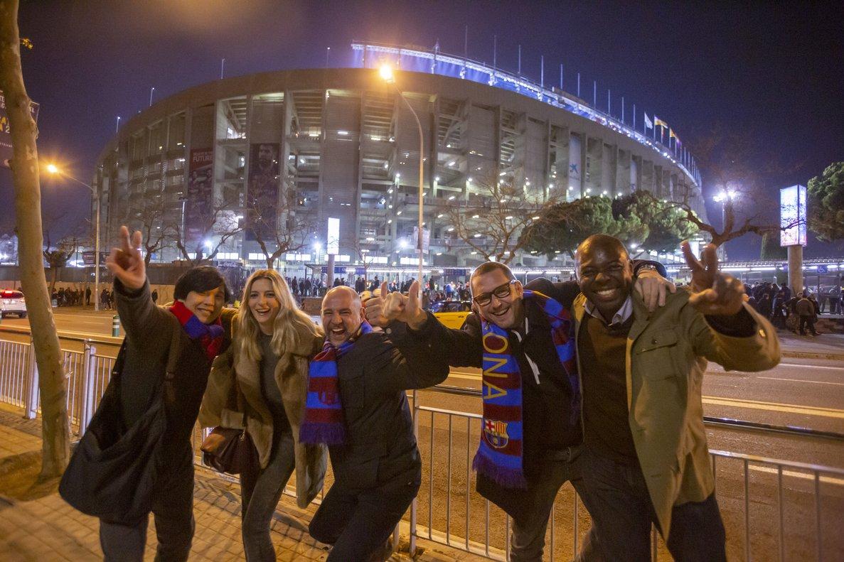 Imagen de una experiencia con aficionado al Barça