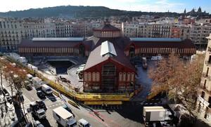 El mercado de Sant Antoni, unas obras que han durado años.