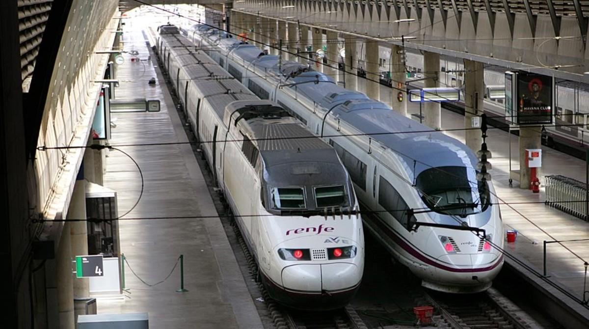 Las estación del AVE en Sevilla.