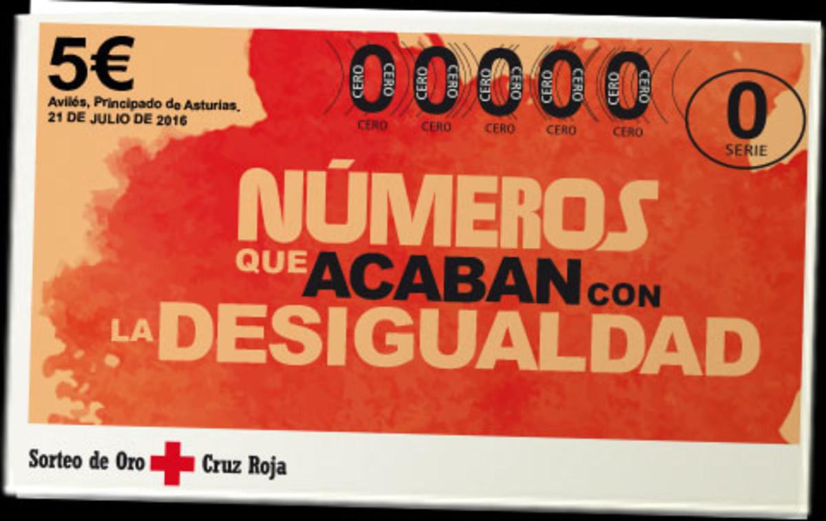 Imagen promocional del Sorteo del Oro de la Cruz Roja 2016.