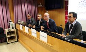 Imagen de la rueda de prensa de la presentación del nuevo tratamiento, el pasado jueves