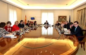 Reunión del Consejo de Ministros esta mañana, con el nuevo ministro de Economía, Román Escolano.