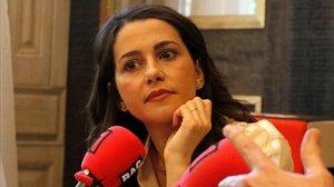 Inés Arrimadas, en una entrevista en RAC1.