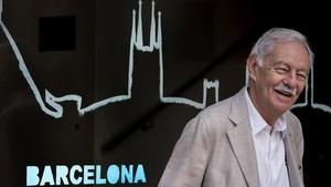 Eduardo Mendoza, este martes durante la presentación de la novela El rey recibe.